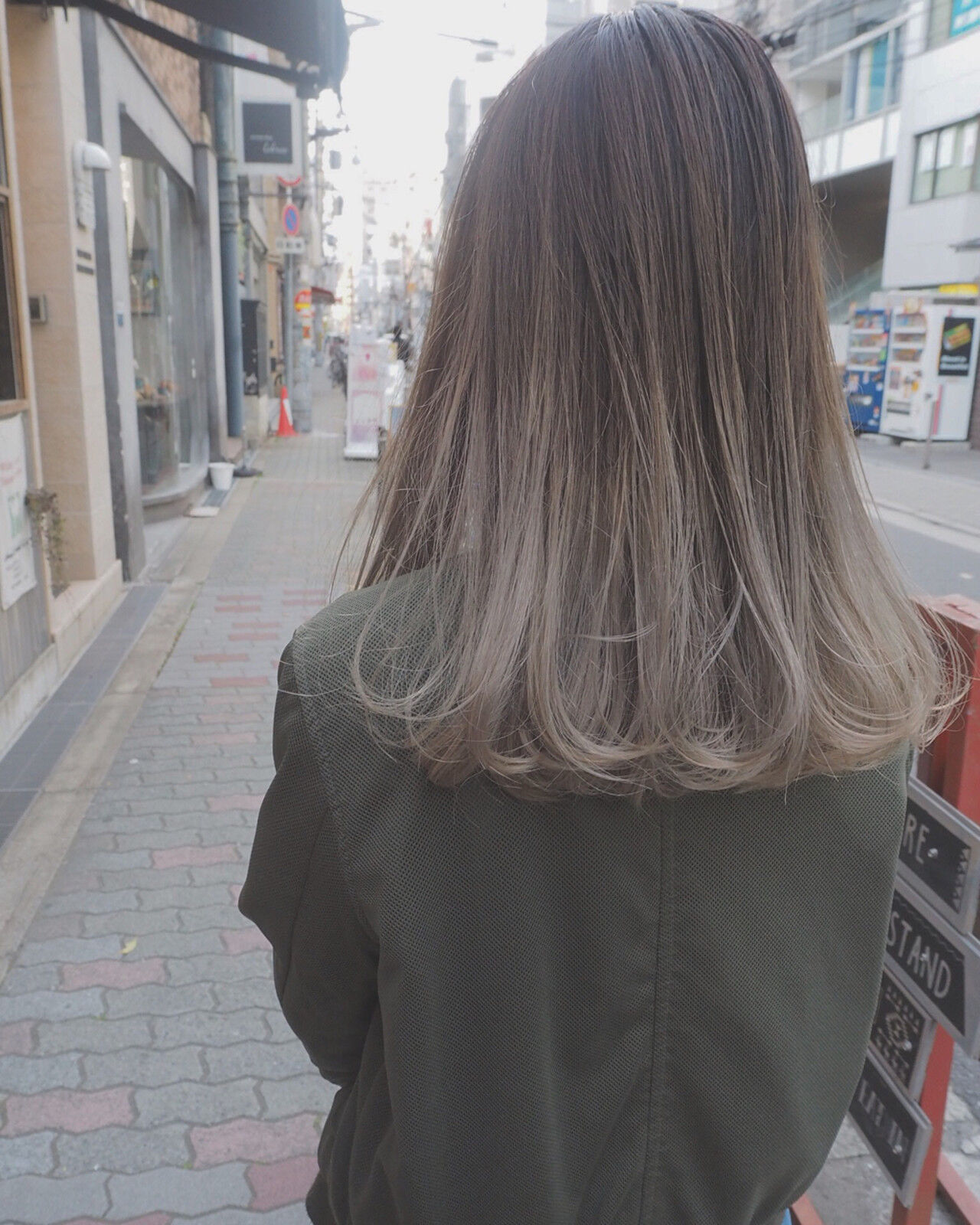 ロング ストリート イルミナカラー 外国人風ヘアスタイルや髪型の写真・画像