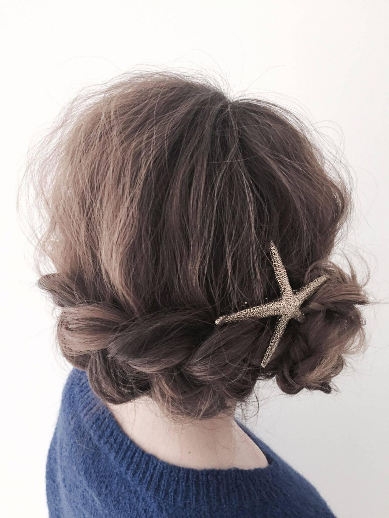 フェミニン ヘアアレンジ ガーリーヘアスタイルや髪型の写真・画像