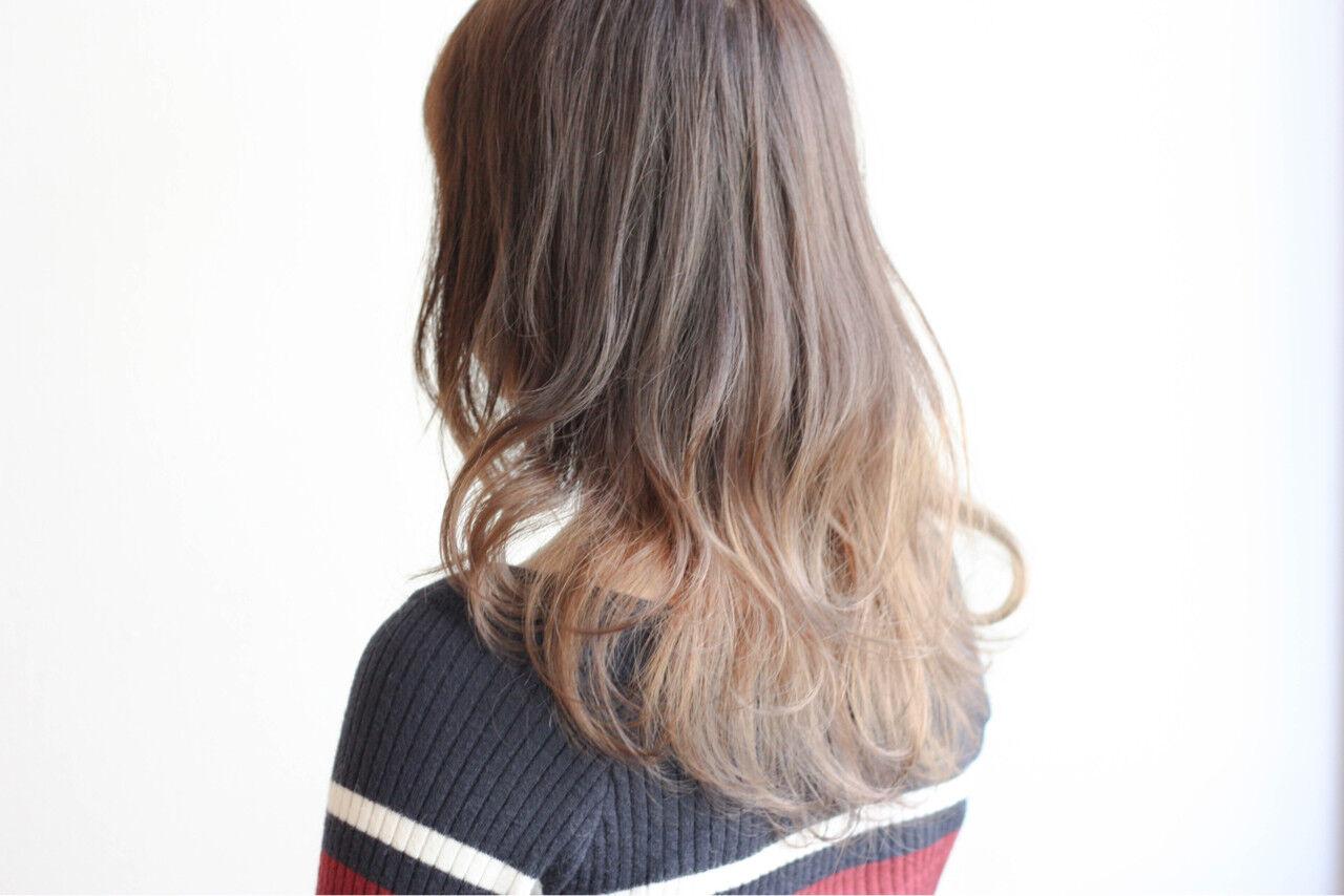 エレガント セミロング デート ゆるふわヘアスタイルや髪型の写真・画像