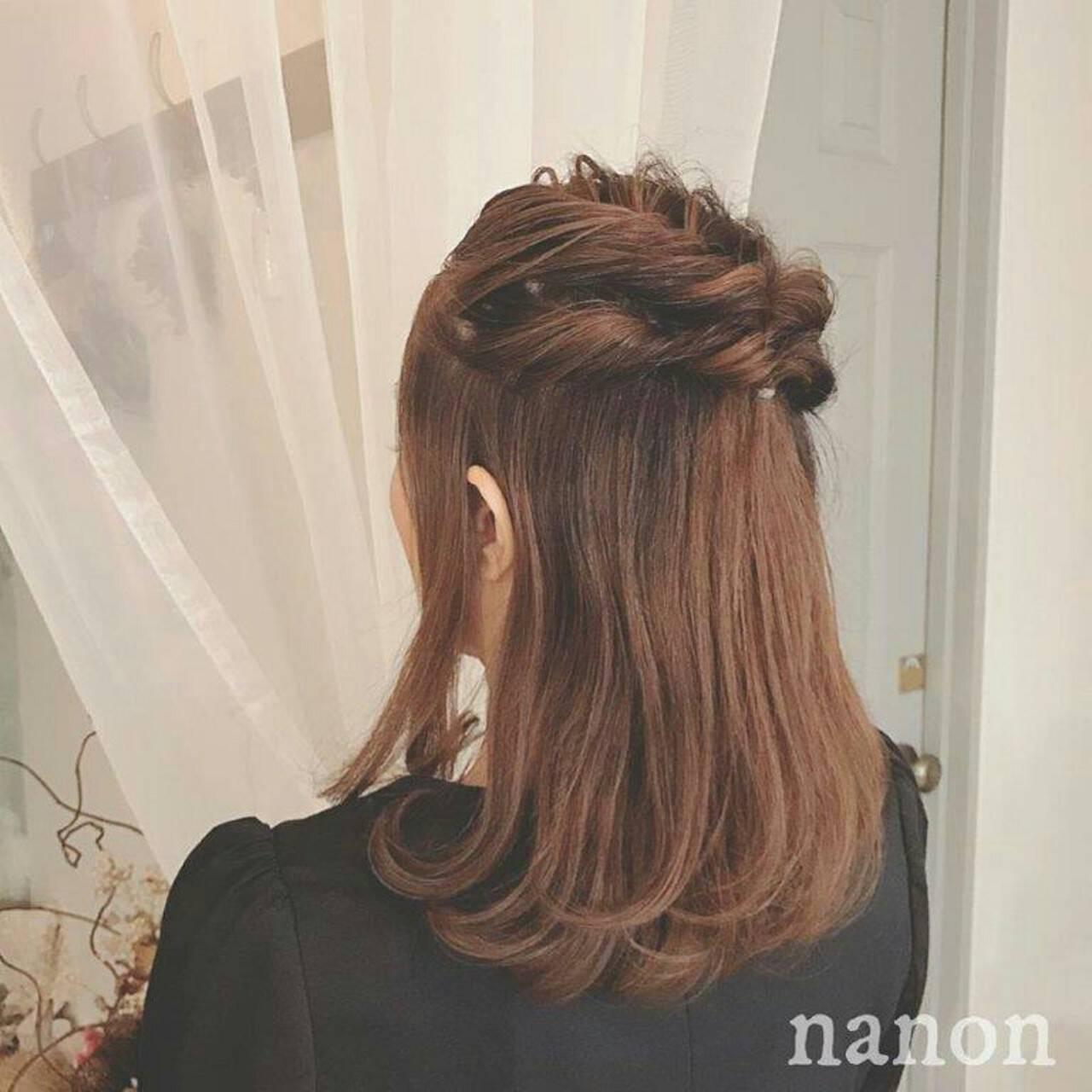 透明感 セミロング 夏 ヘアアレンジヘアスタイルや髪型の写真・画像