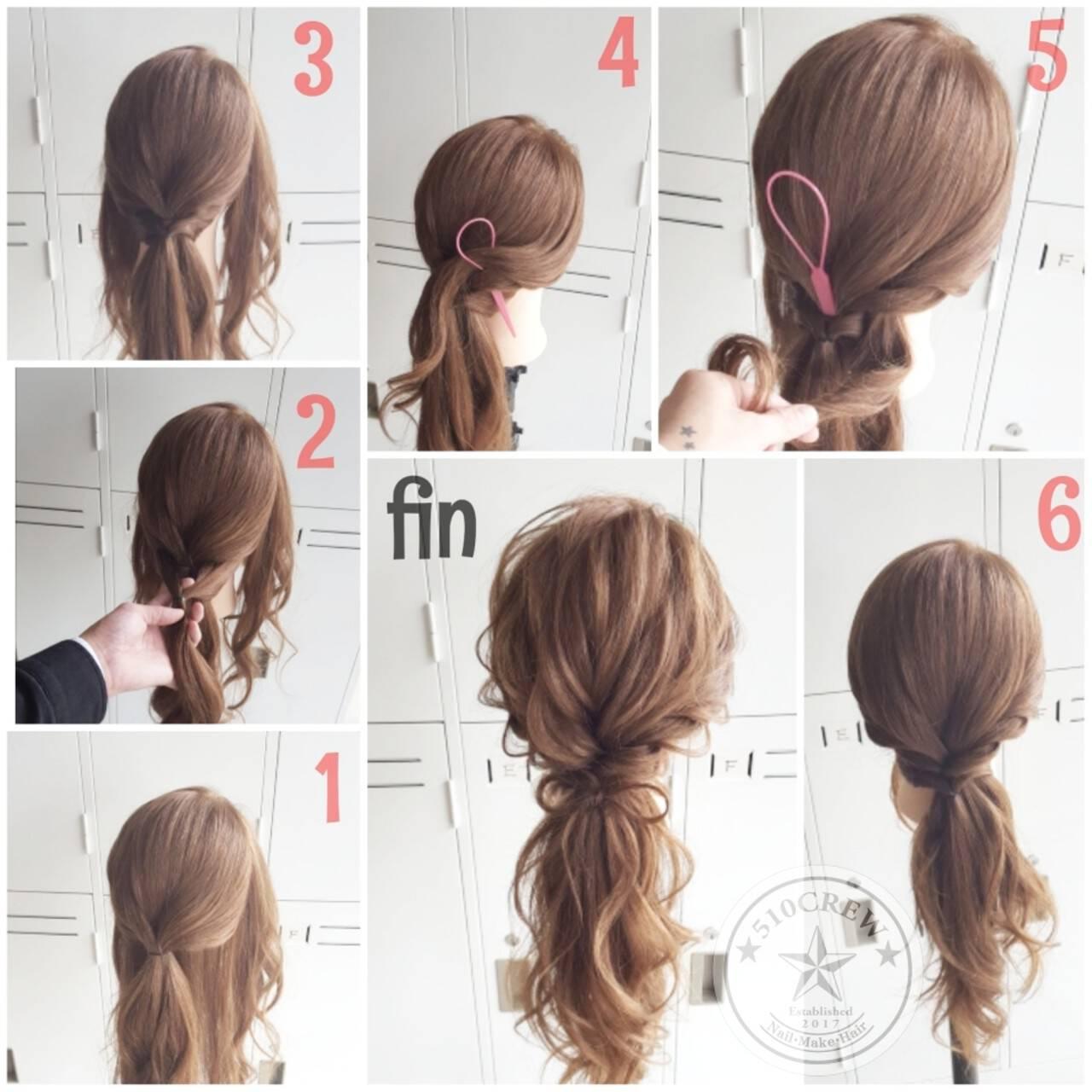 上品 簡単ヘアアレンジ ヘアアレンジ ゆるふわヘアスタイルや髪型の写真・画像