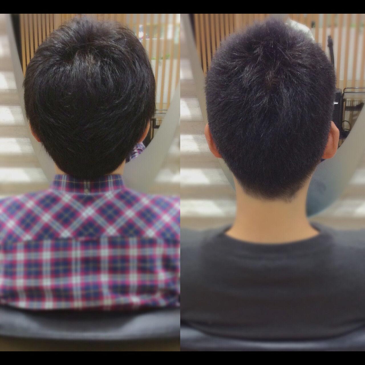 ショート メンズヘア ナチュラル ベリーショートヘアスタイルや髪型の写真・画像