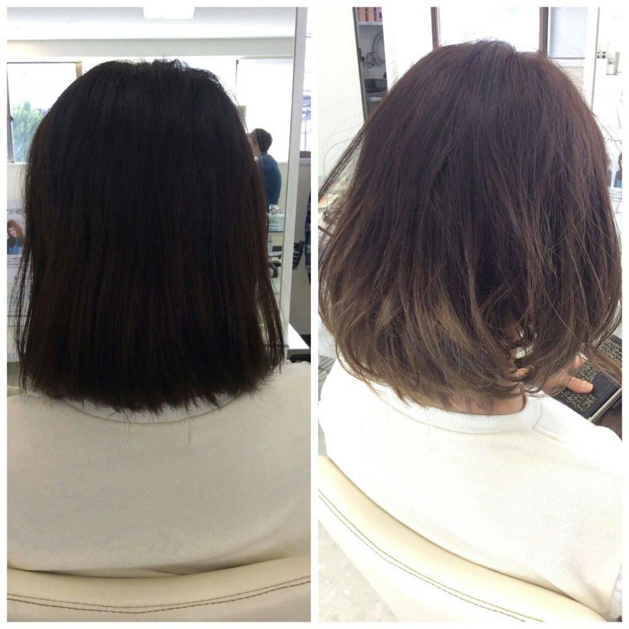 グラデーションカラー 黒髪 外国人風 ストリートヘアスタイルや髪型の写真・画像