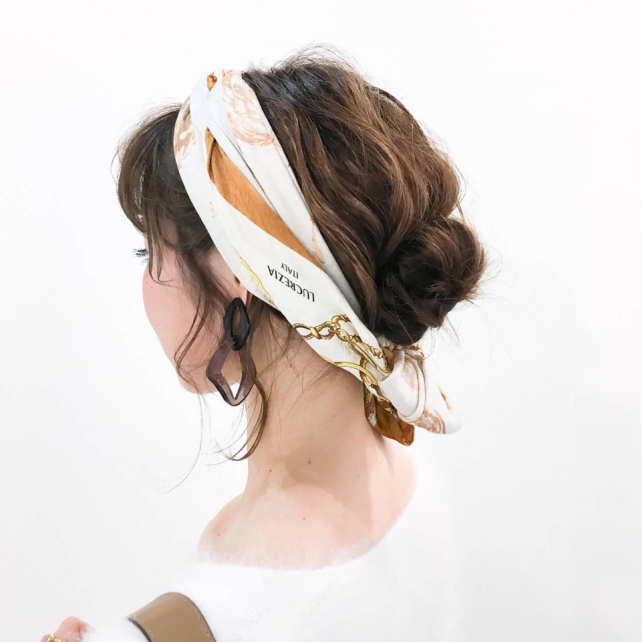 ヘアアレンジ ミディアム 外国人風 簡単ヘアアレンジヘアスタイルや髪型の写真・画像