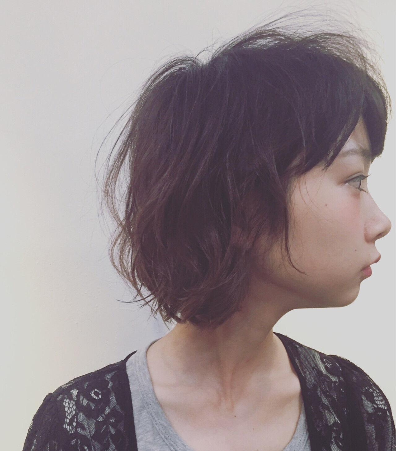 ナチュラル ピュア 抜け感 ボブヘアスタイルや髪型の写真・画像