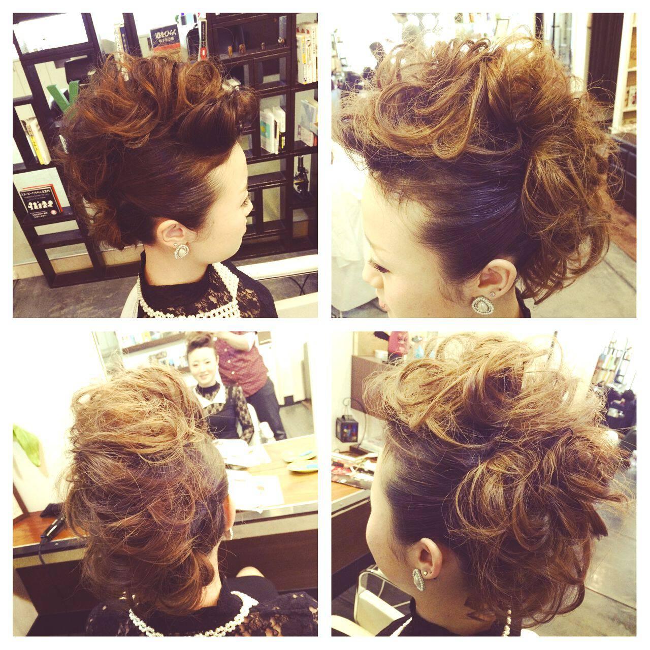 アップスタイル ヘアアレンジ コンサバ パーティヘアスタイルや髪型の写真・画像