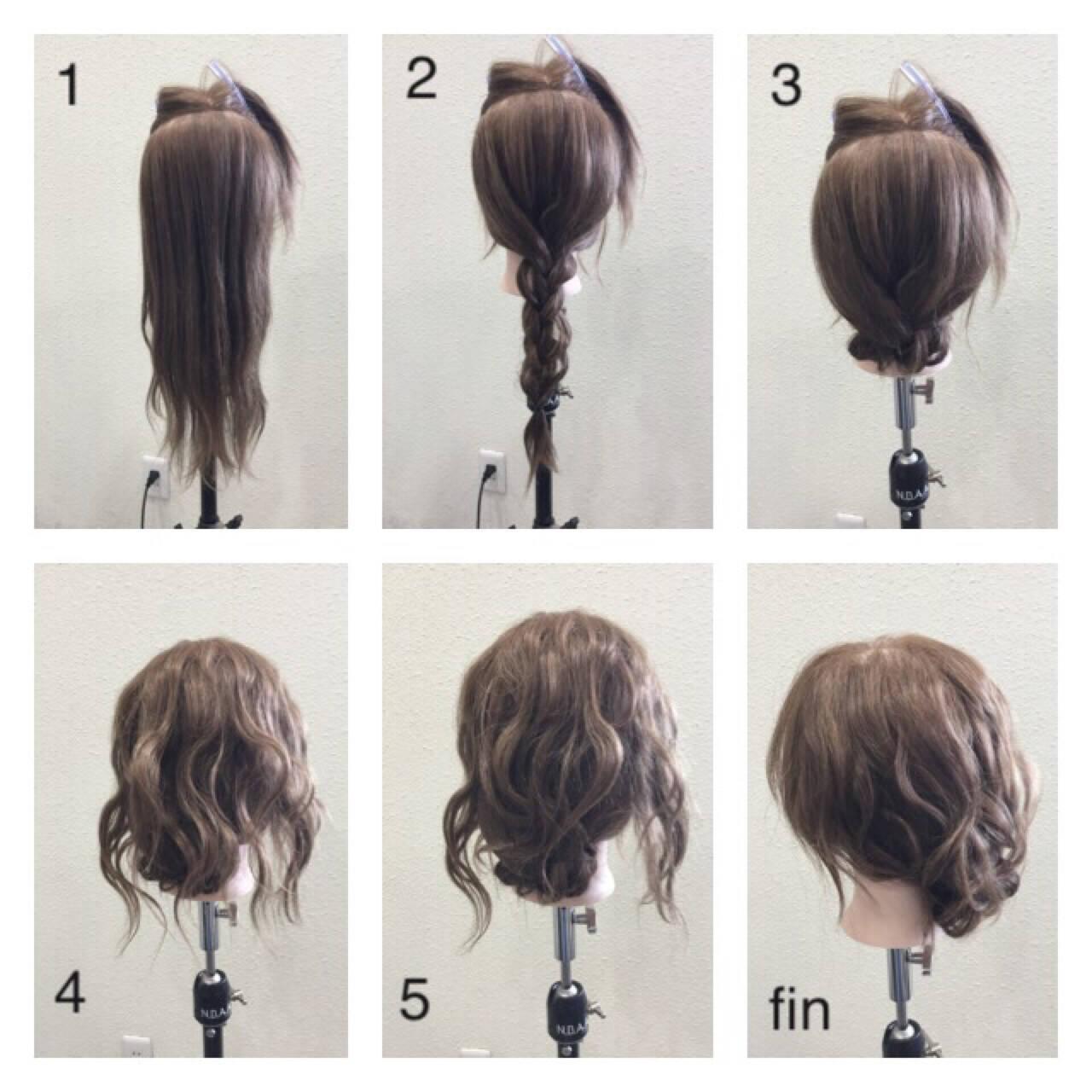 二次会 ヘアアレンジ ショート 簡単ヘアアレンジヘアスタイルや髪型の写真・画像