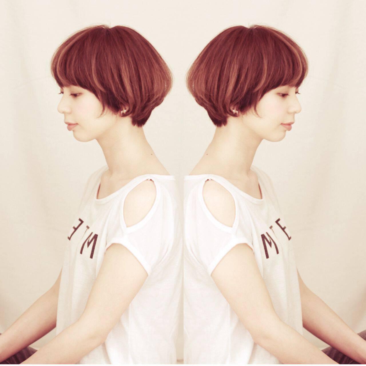 ナチュラル 春 ショートヘアスタイルや髪型の写真・画像