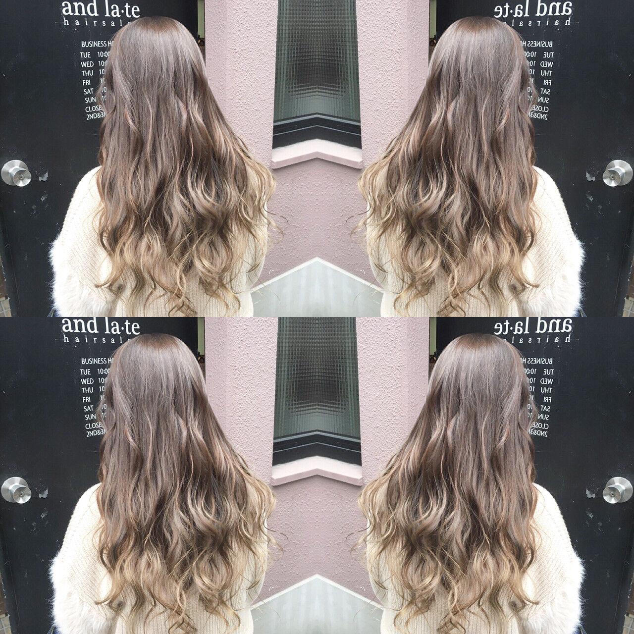 ミルクティーベージュ 外国人風カラー 透明感 ナチュラルヘアスタイルや髪型の写真・画像