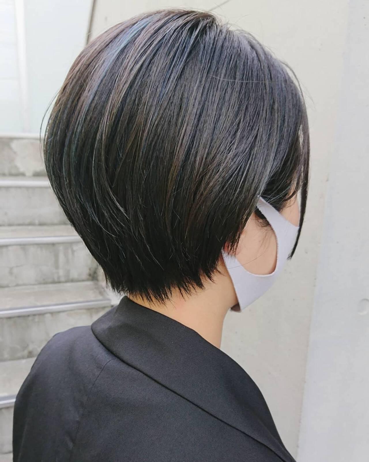 ベリーショート ショート ショートヘア ハイライトヘアスタイルや髪型の写真・画像