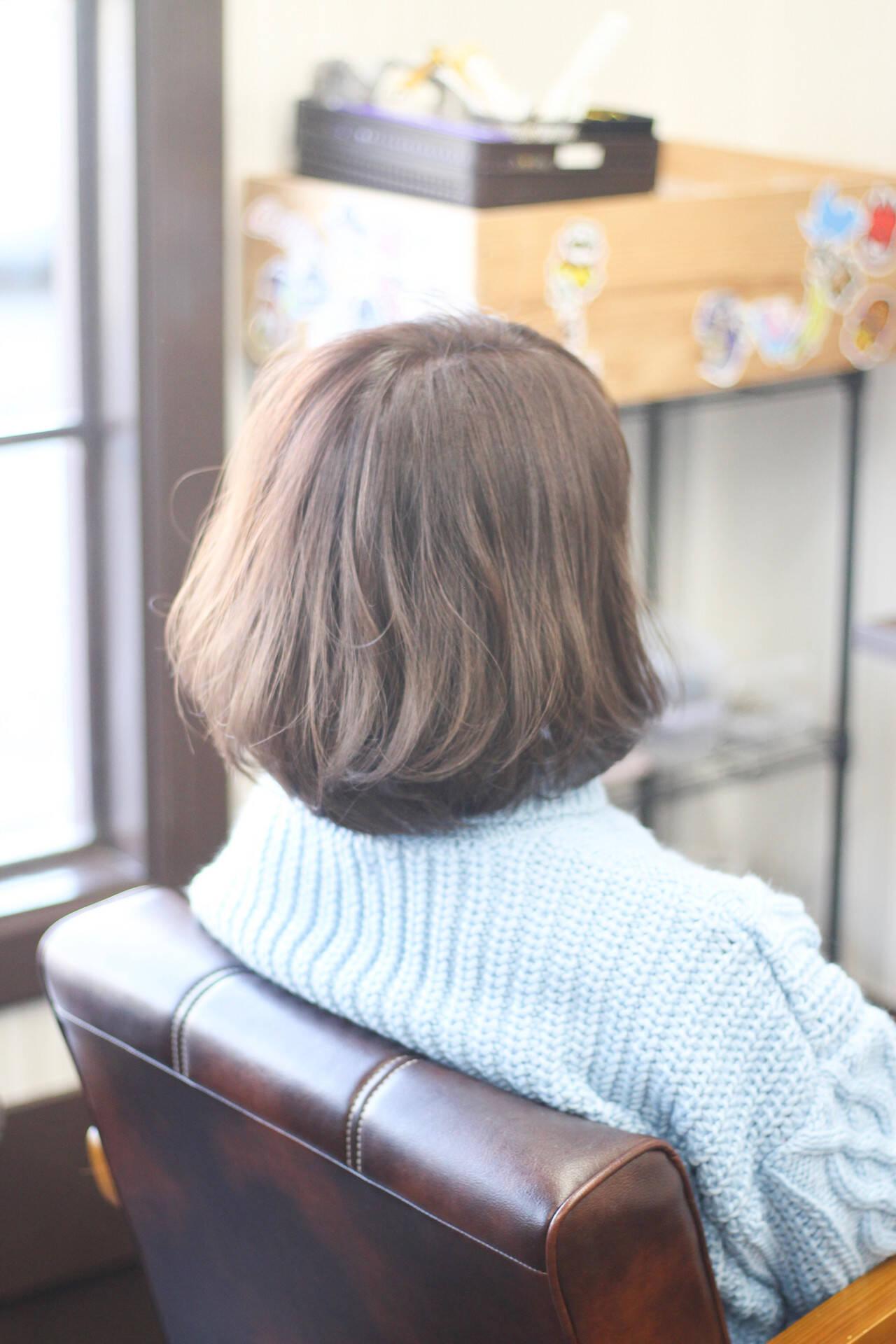 ゆるふわ ボブ 圧倒的透明感 ナチュラルヘアスタイルや髪型の写真・画像