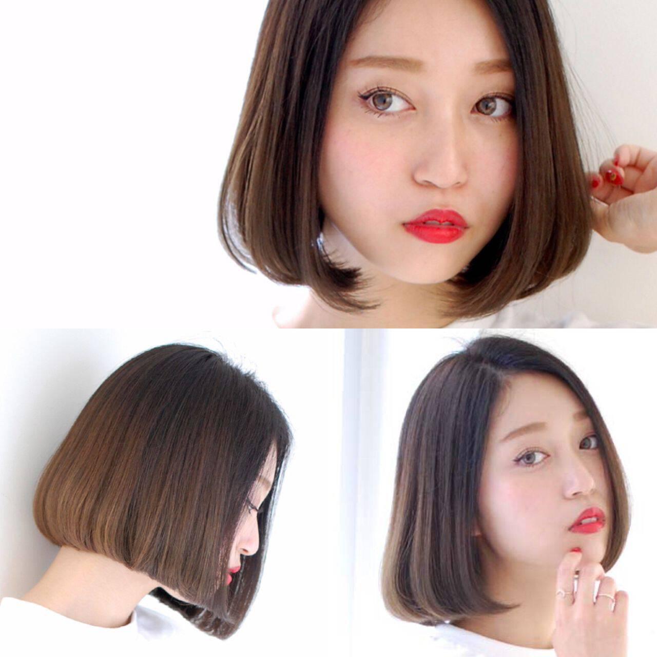 ガーリー 外国人風 グラデーションカラー ボブヘアスタイルや髪型の写真・画像