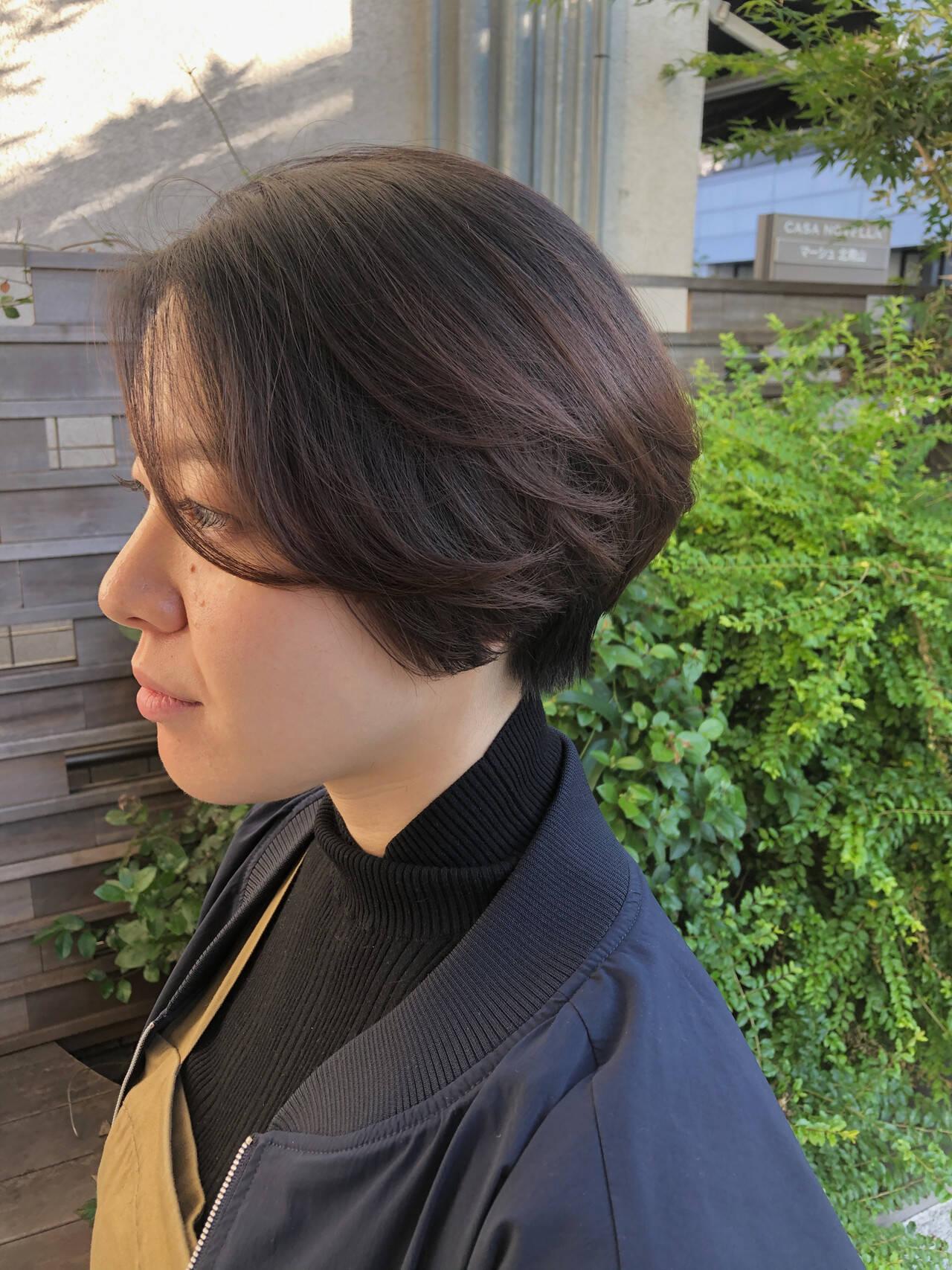 ショート ショートカット 大人ショート マッシュショートヘアスタイルや髪型の写真・画像