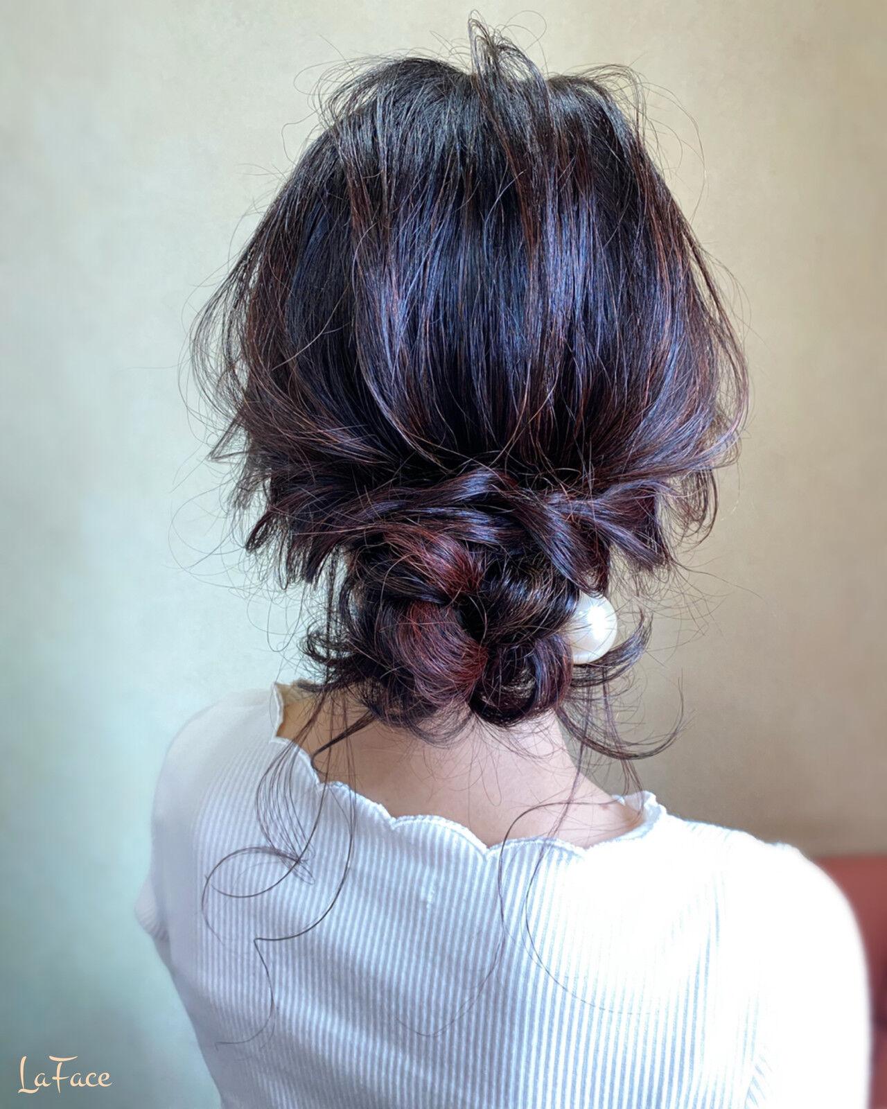 お呼ばれ ヘアアレンジ エレガント 大人かわいいヘアスタイルや髪型の写真・画像