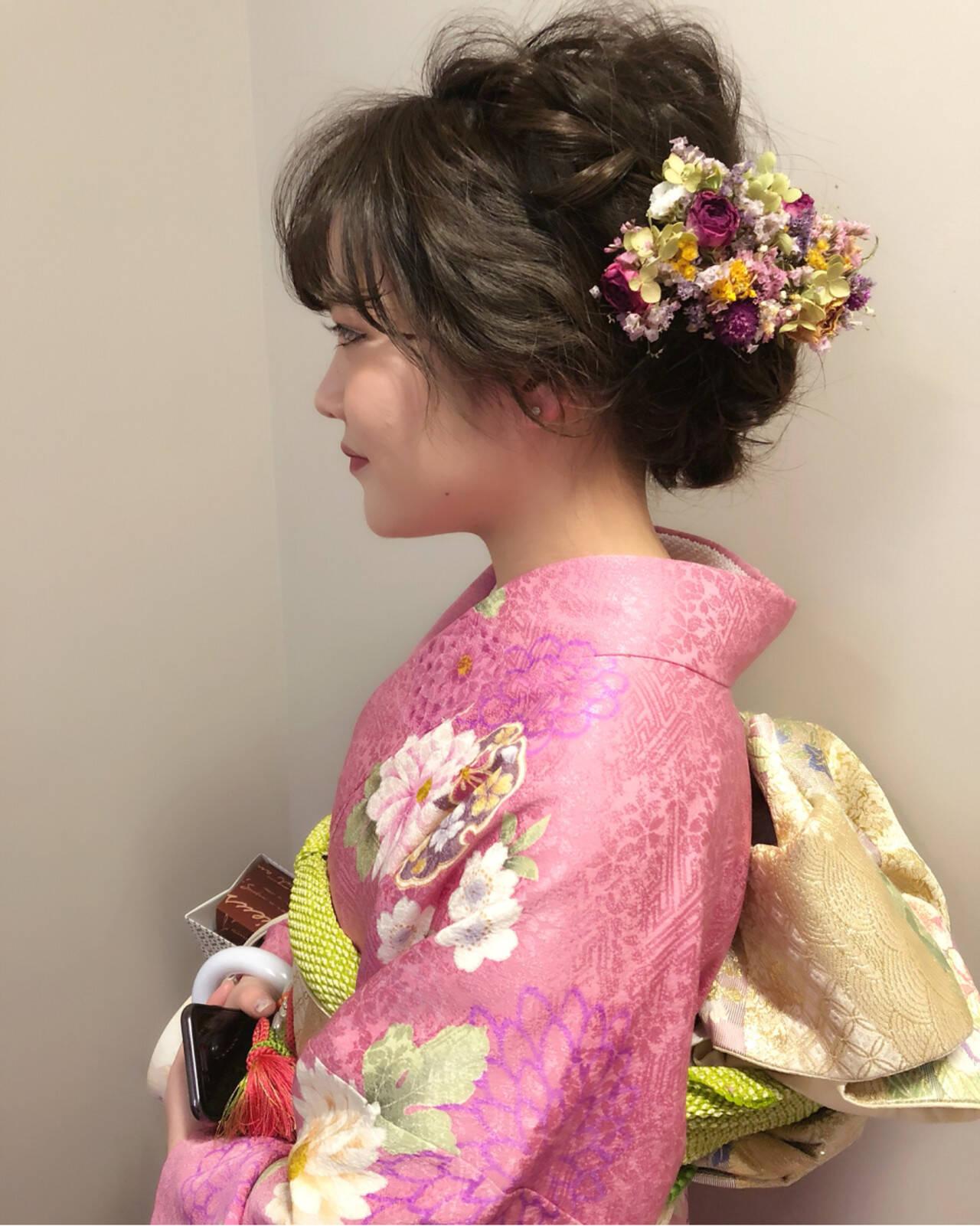 アップスタイル 振袖 結婚式 謝恩会ヘアスタイルや髪型の写真・画像