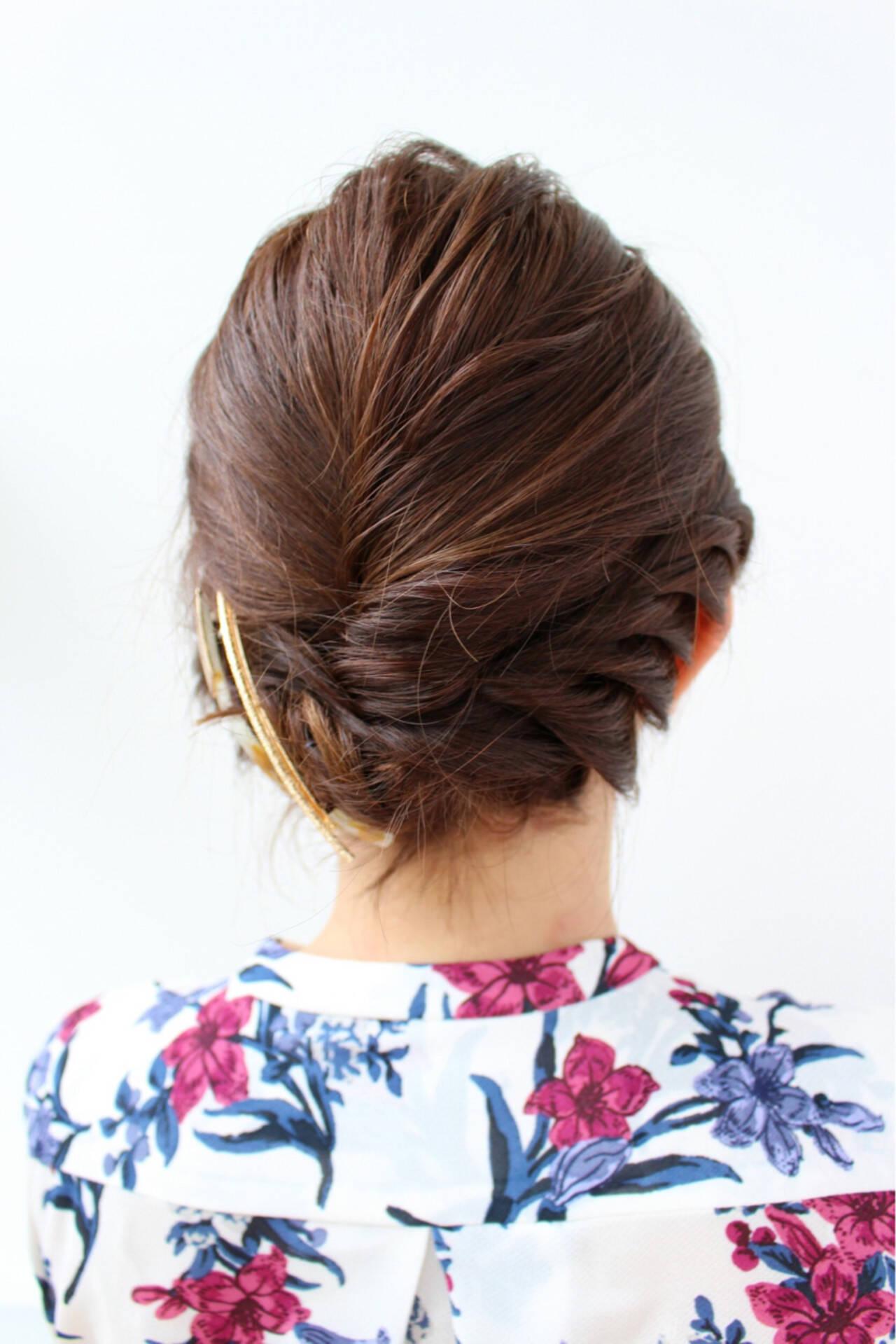 ヘアアレンジ ボブ 結婚式 エレガントヘアスタイルや髪型の写真・画像