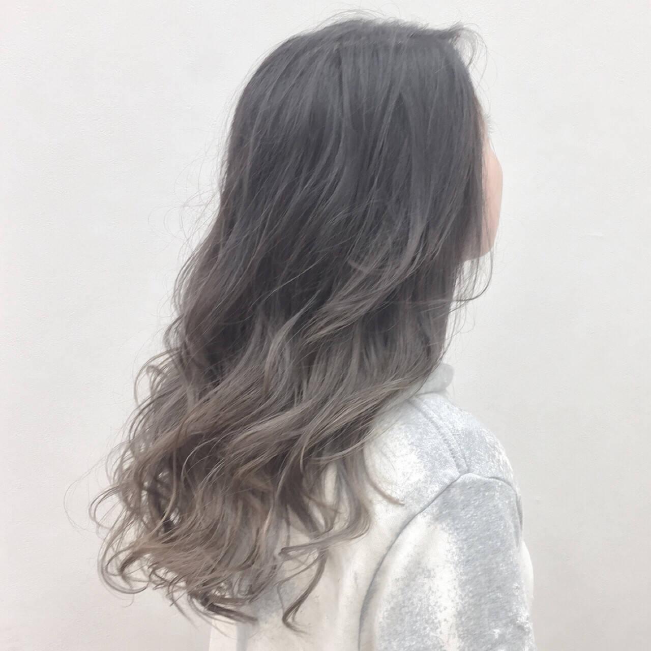 グラデーションカラー エレガント 涼しげ 大人かわいいヘアスタイルや髪型の写真・画像