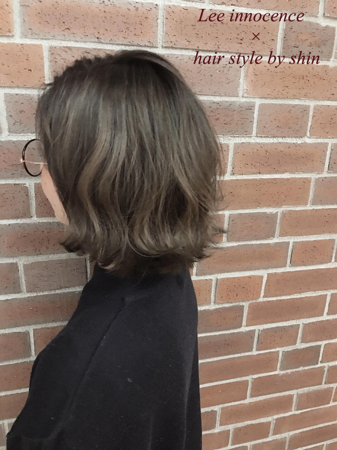 ナチュラル ボブ 外国人風 ミルクティーヘアスタイルや髪型の写真・画像