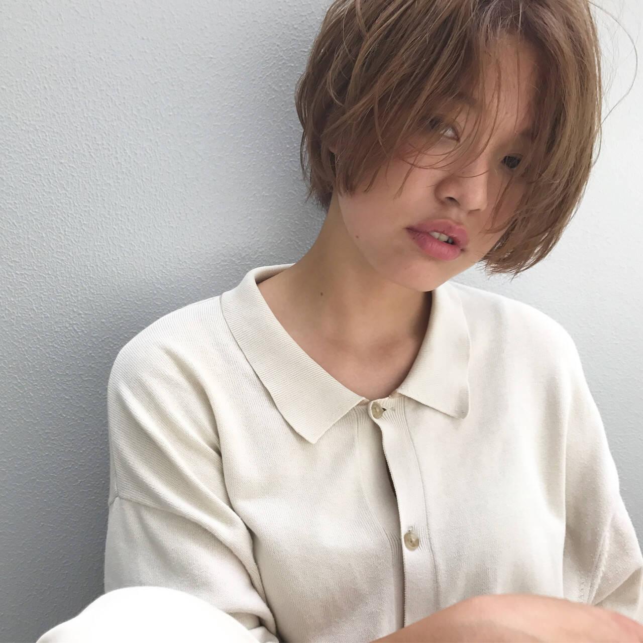 リラックス ナチュラル 色気 涼しげヘアスタイルや髪型の写真・画像