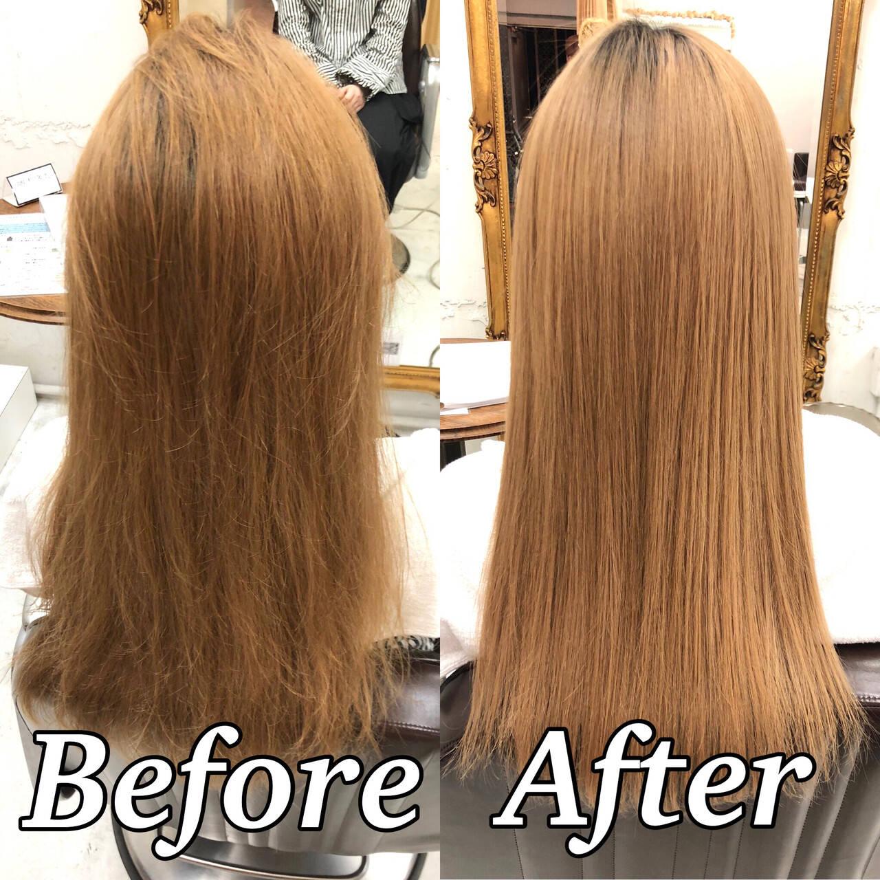 髪質改善 ナチュラル ツヤ髪 美髪ヘアスタイルや髪型の写真・画像