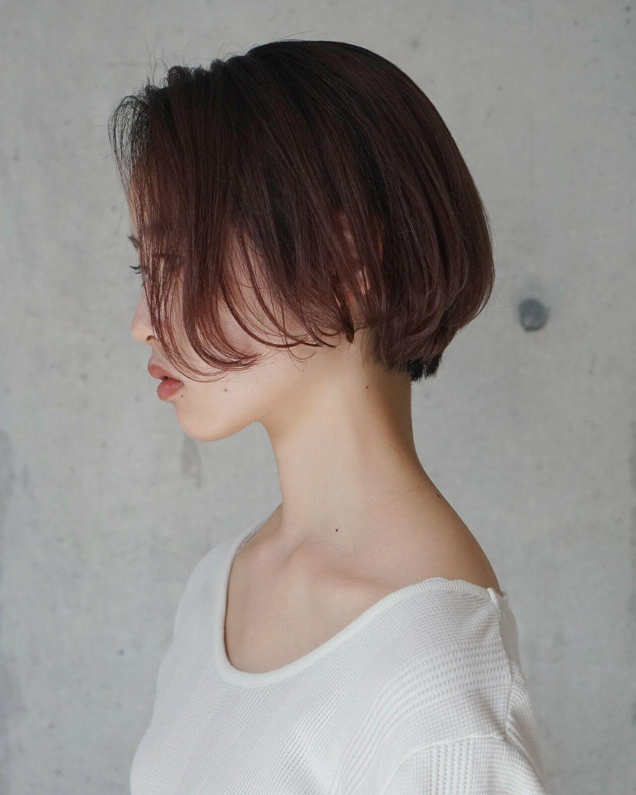 大人女子 ナチュラル こなれ感 ショートボブヘアスタイルや髪型の写真・画像