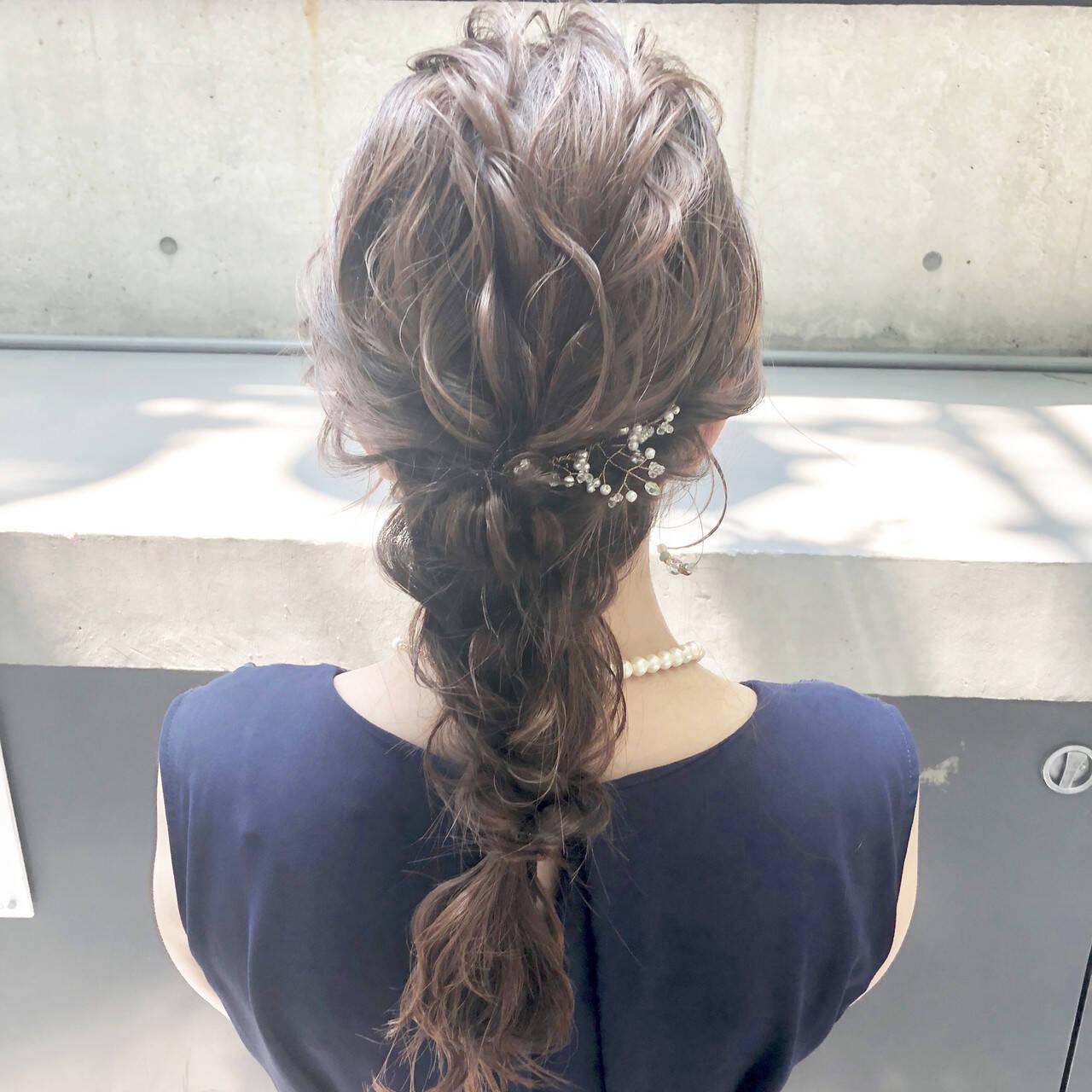 ヘアアレンジ ヘアセット 結婚式ヘアアレンジ フェミニンヘアスタイルや髪型の写真・画像