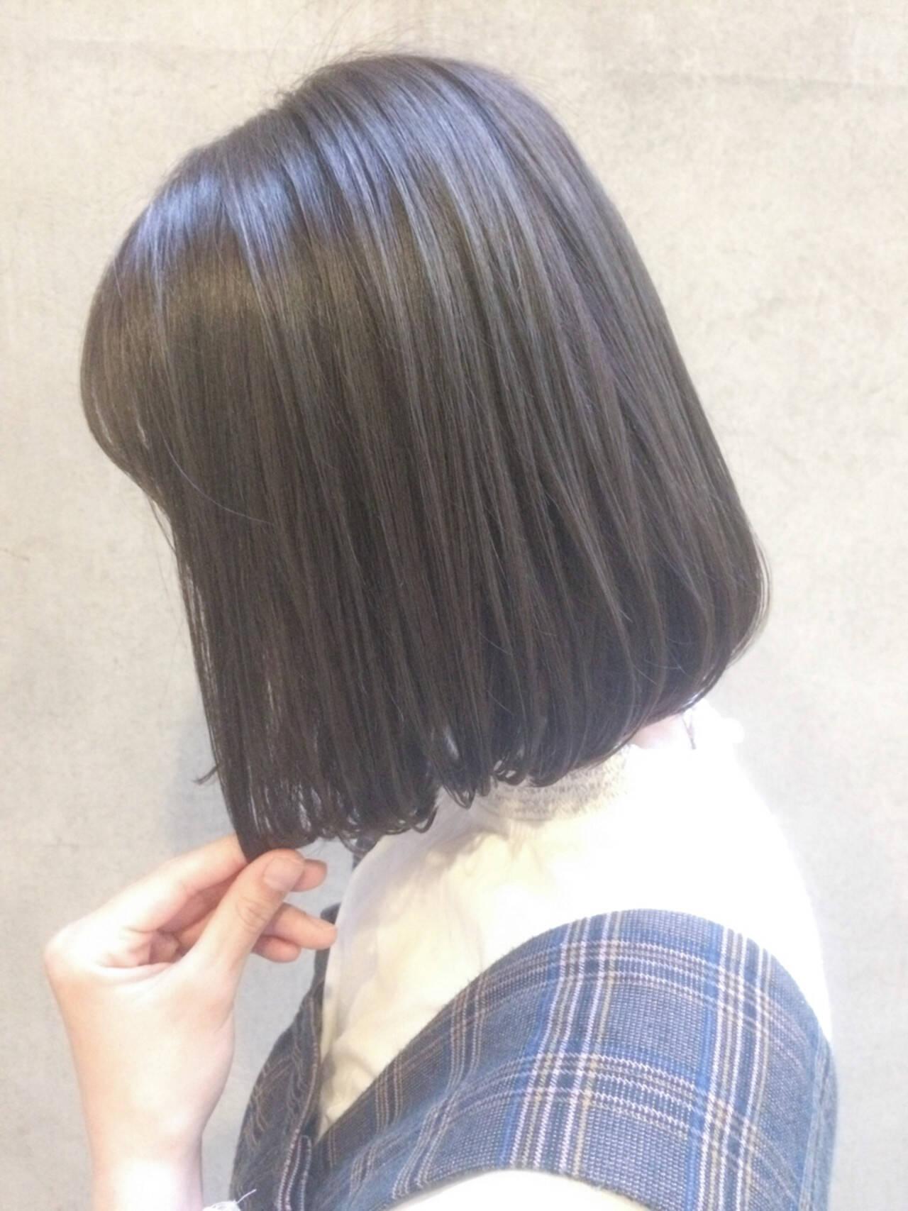 切りっぱなし 大人かわいい ナチュラル ゆるふわヘアスタイルや髪型の写真・画像