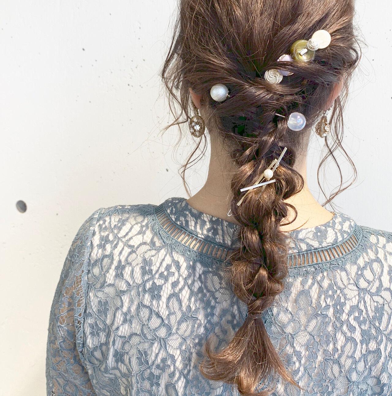 春 ロング フェミニン デートヘアスタイルや髪型の写真・画像