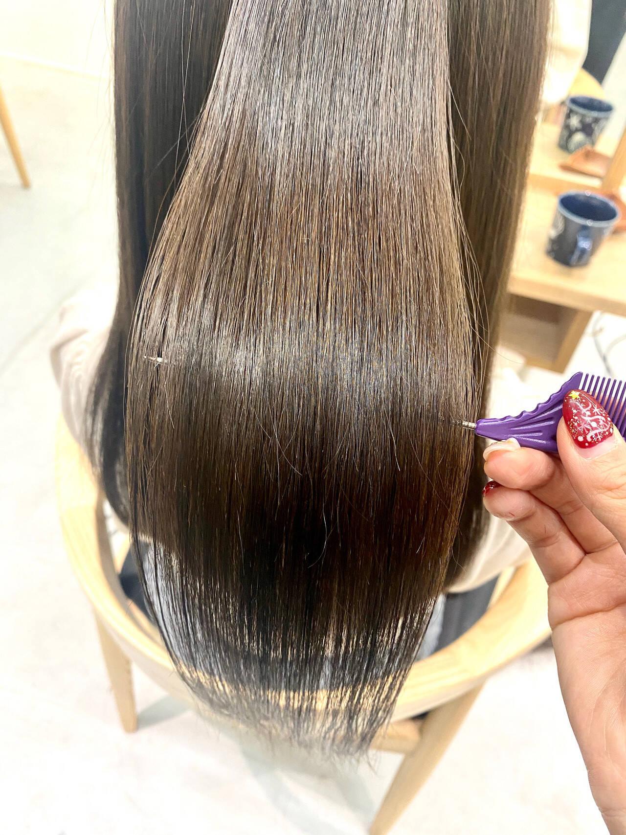 ロングヘア トリートメント 髪質改善トリートメント ナチュラルヘアスタイルや髪型の写真・画像