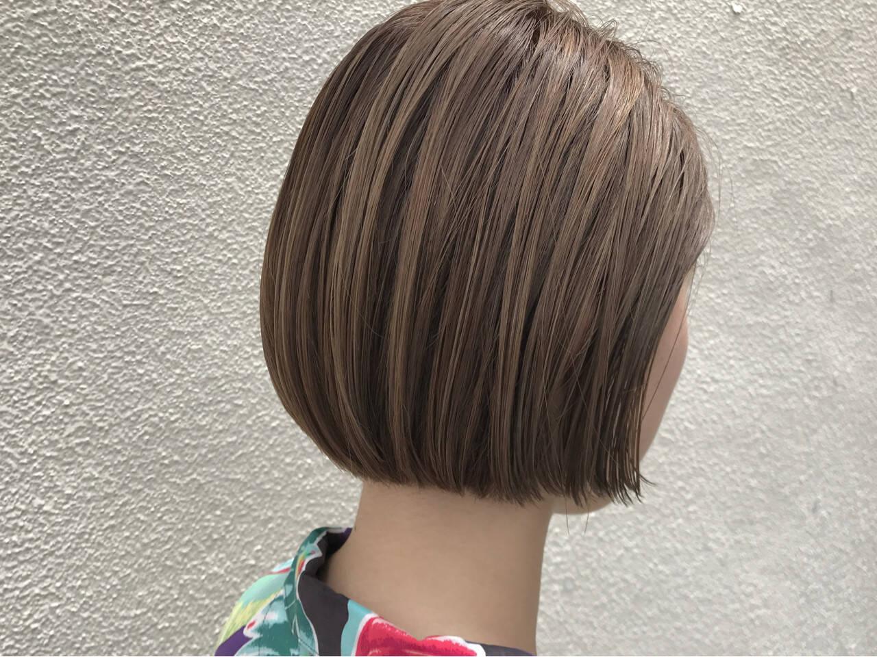 ナチュラル ショート ショートボブ ボブヘアスタイルや髪型の写真・画像