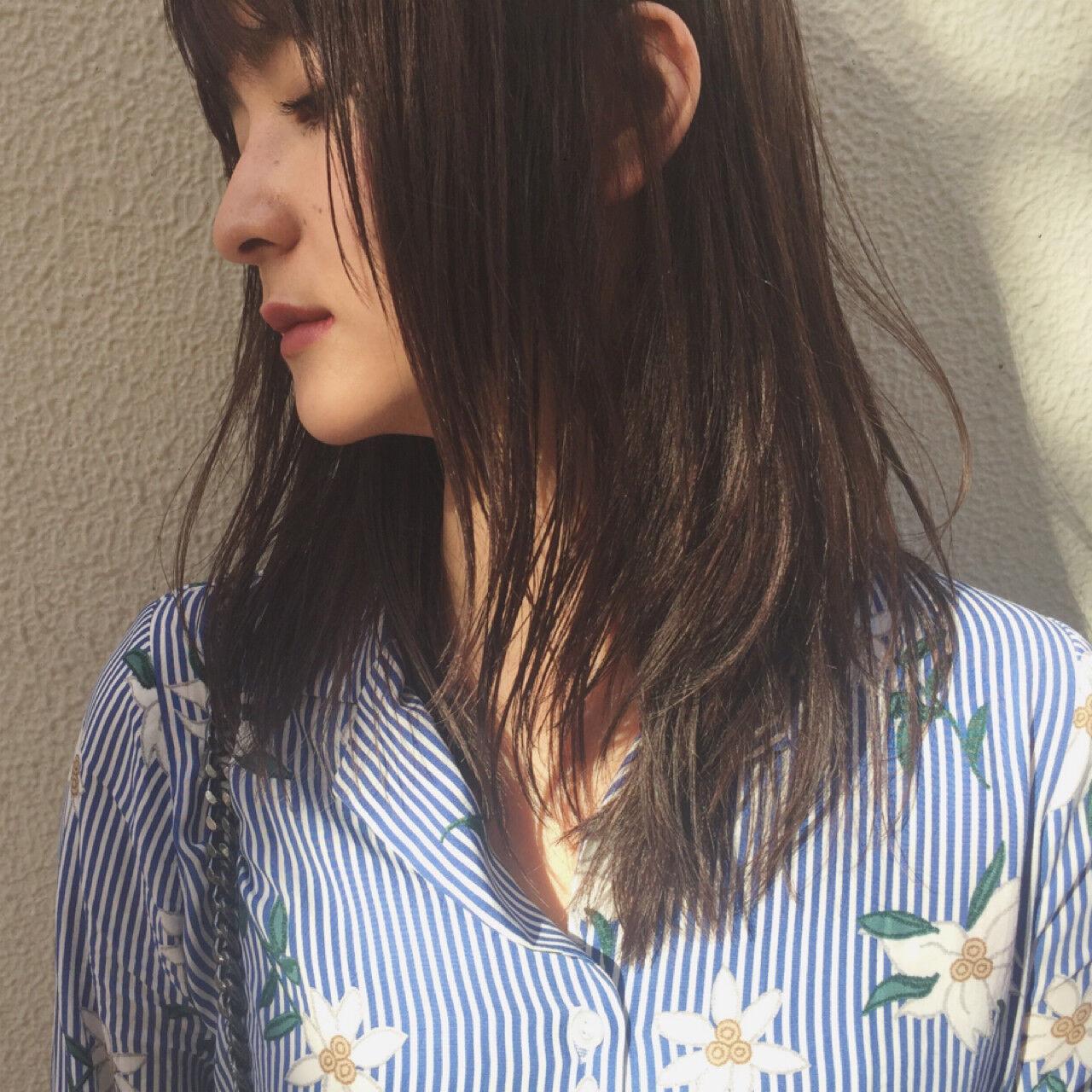 女子会 ナチュラル デート 黒髪ヘアスタイルや髪型の写真・画像