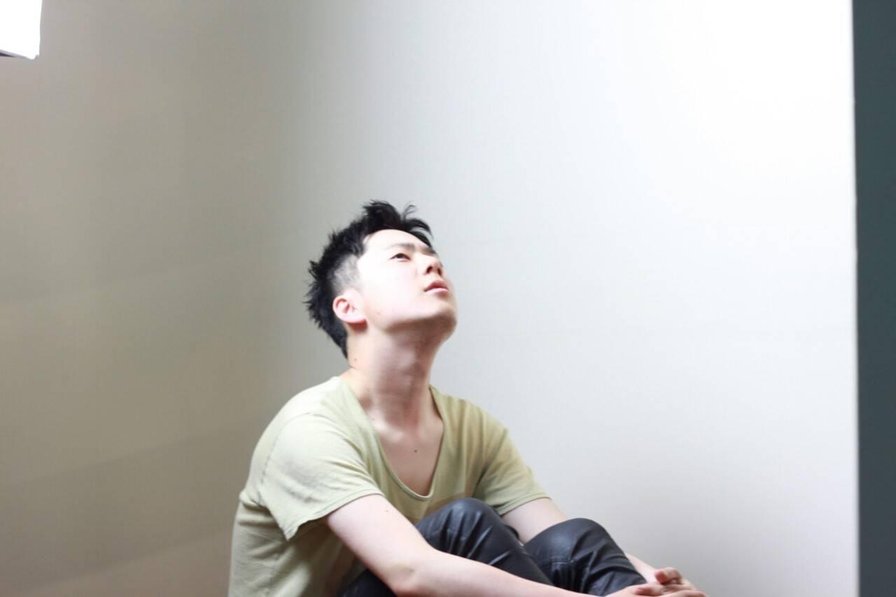 黒髪 メンズ かっこいい モードヘアスタイルや髪型の写真・画像