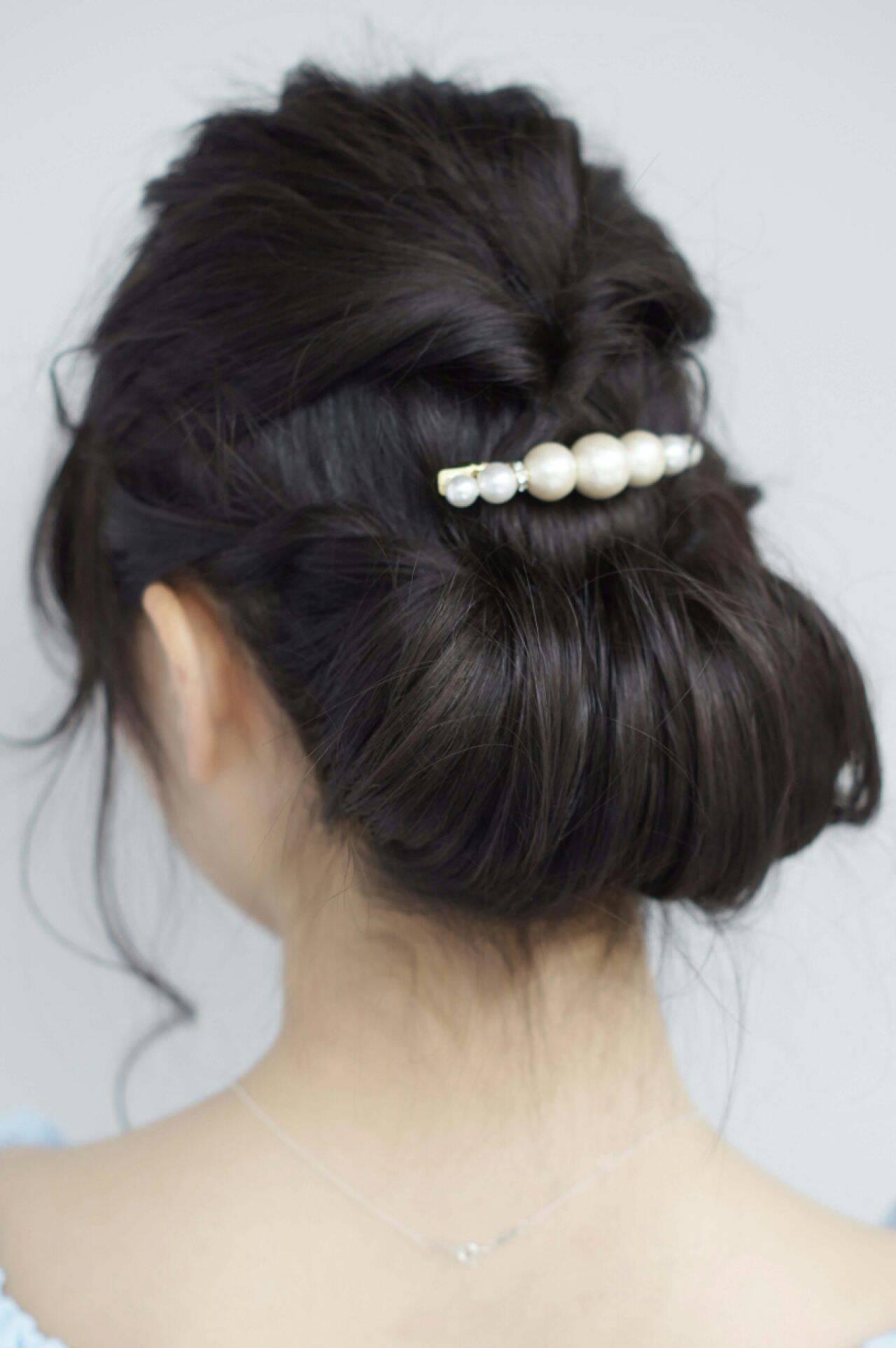 コンサバ ヘアアレンジ ギブソンタック 簡単ヘアアレンジヘアスタイルや髪型の写真・画像