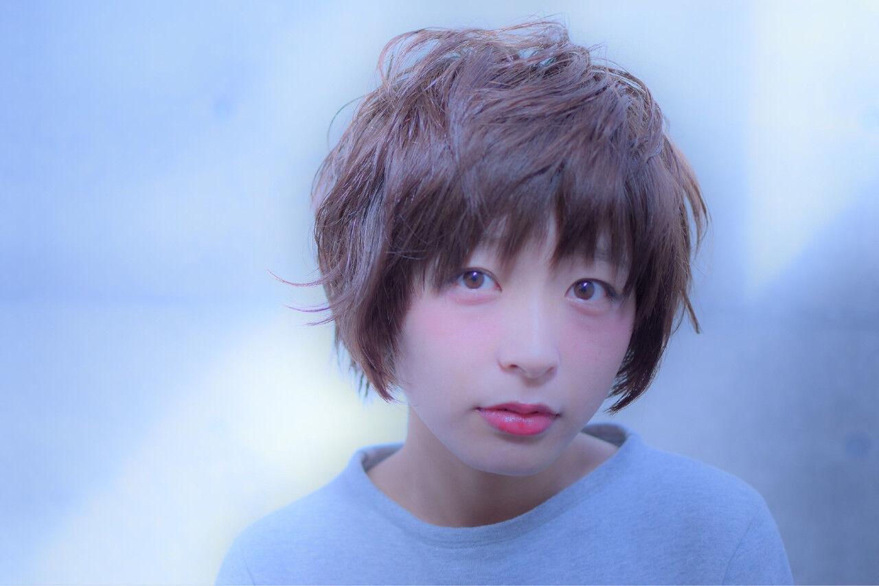 ショート こなれ感 小顔 大人女子ヘアスタイルや髪型の写真・画像