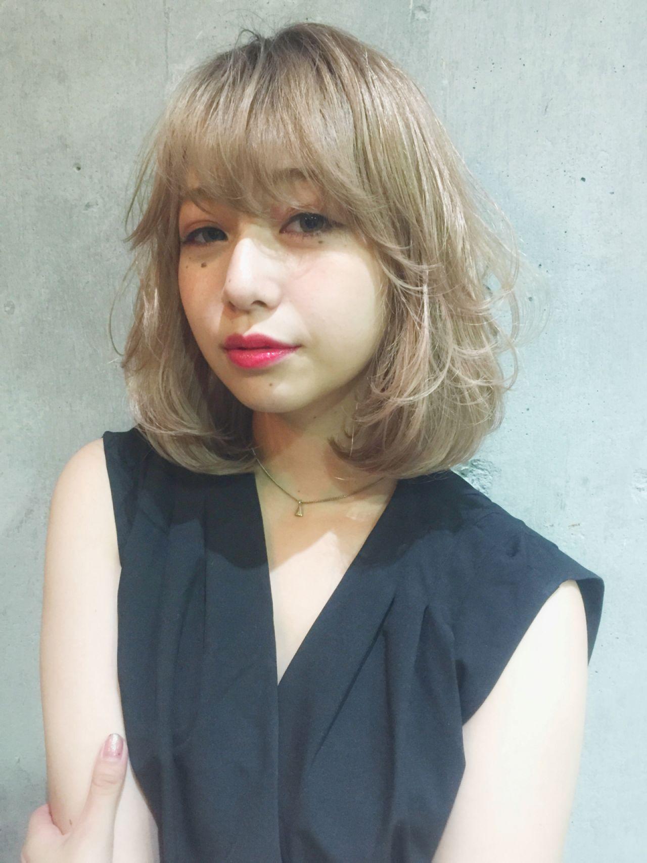ハイライト パンク ボブ ローライトヘアスタイルや髪型の写真・画像