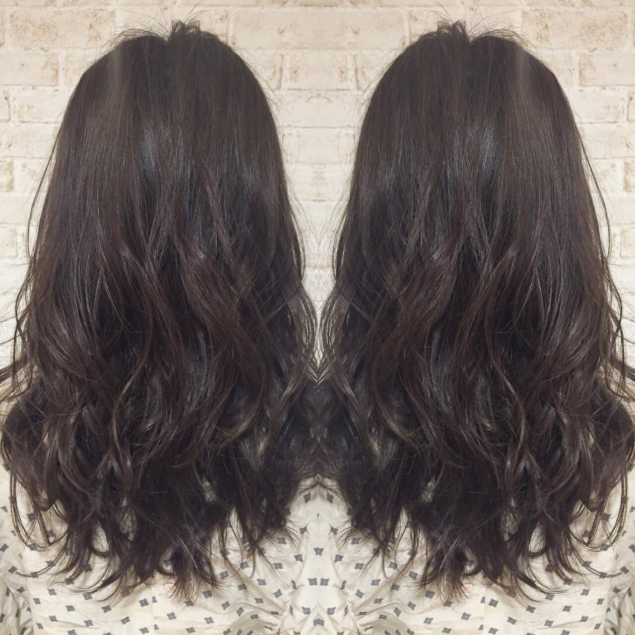 ナチュラル 暗髪 ロング 大人かわいいヘアスタイルや髪型の写真・画像