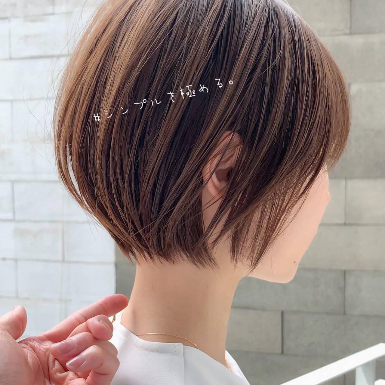 ショートヘア ショートボブ 簡単ヘアアレンジ ベリーショートヘアスタイルや髪型の写真・画像