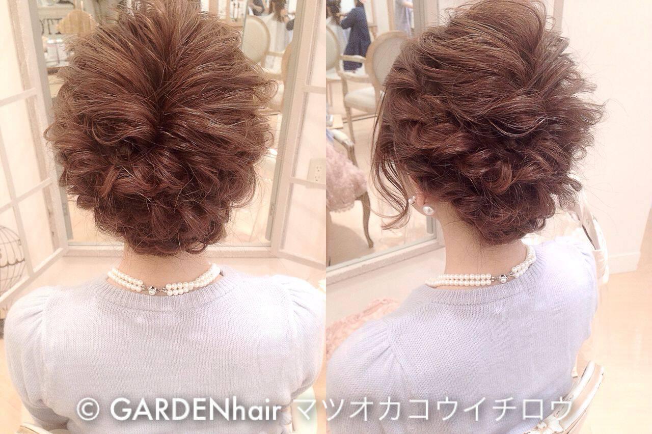 ヘアアレンジ コンサバ ルーズ 結婚式ヘアスタイルや髪型の写真・画像
