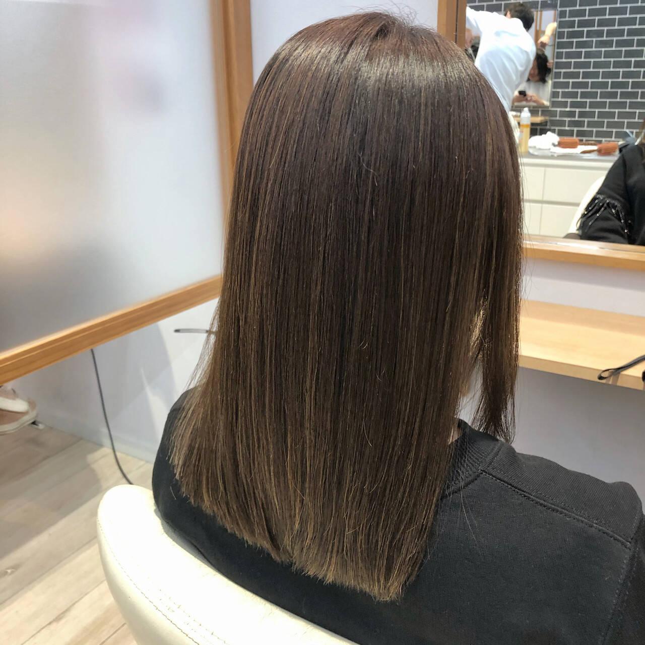 髪質改善 TOKIOトリートメント トリートメント セミロングヘアスタイルや髪型の写真・画像