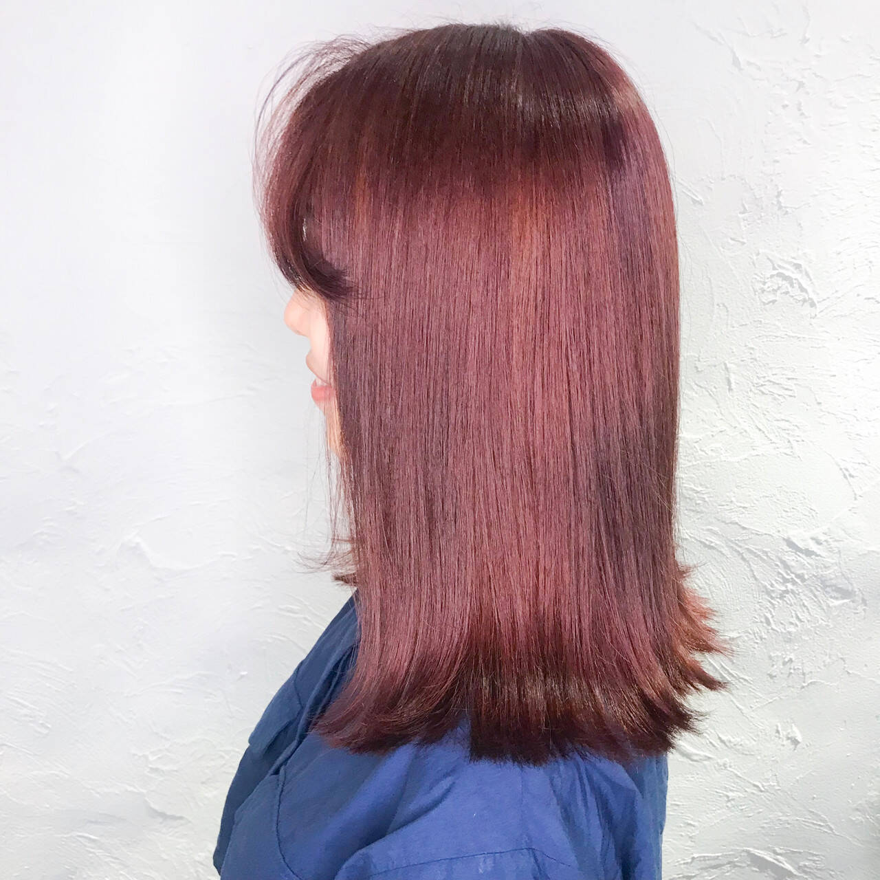 ラベンダーピンク ピンクパープル ピンクブラウン ガーリーヘアスタイルや髪型の写真・画像