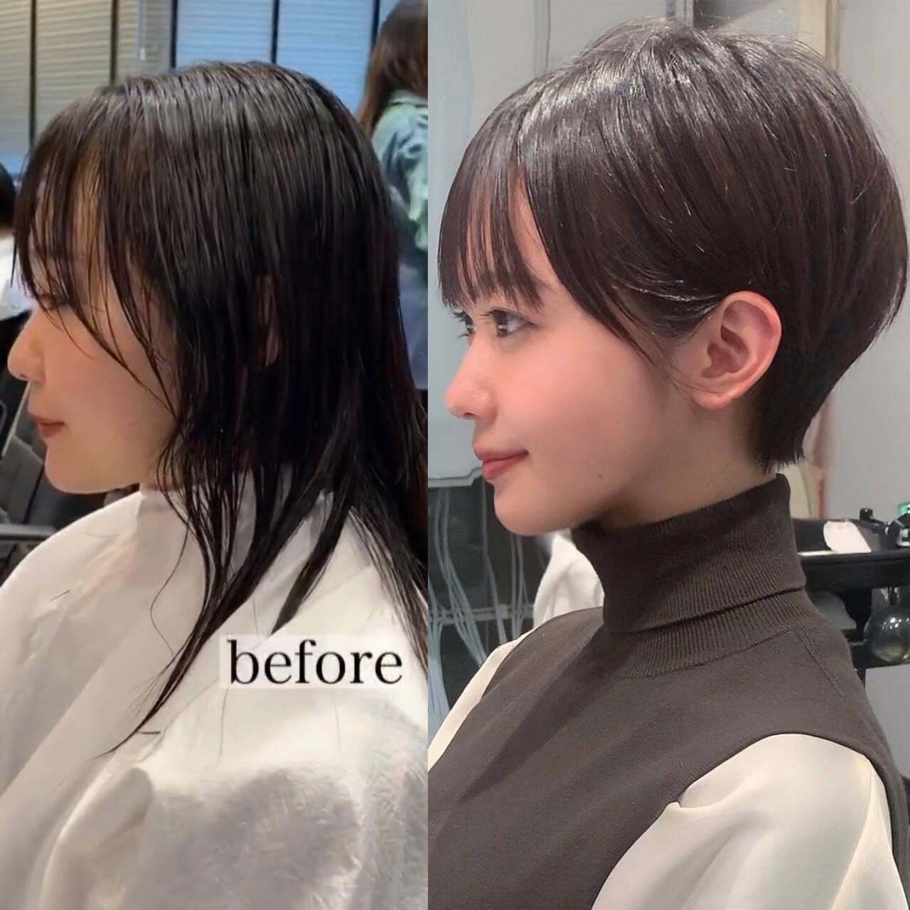 ショート ヘアスタイル ショートボブ モードヘアスタイルや髪型の写真・画像