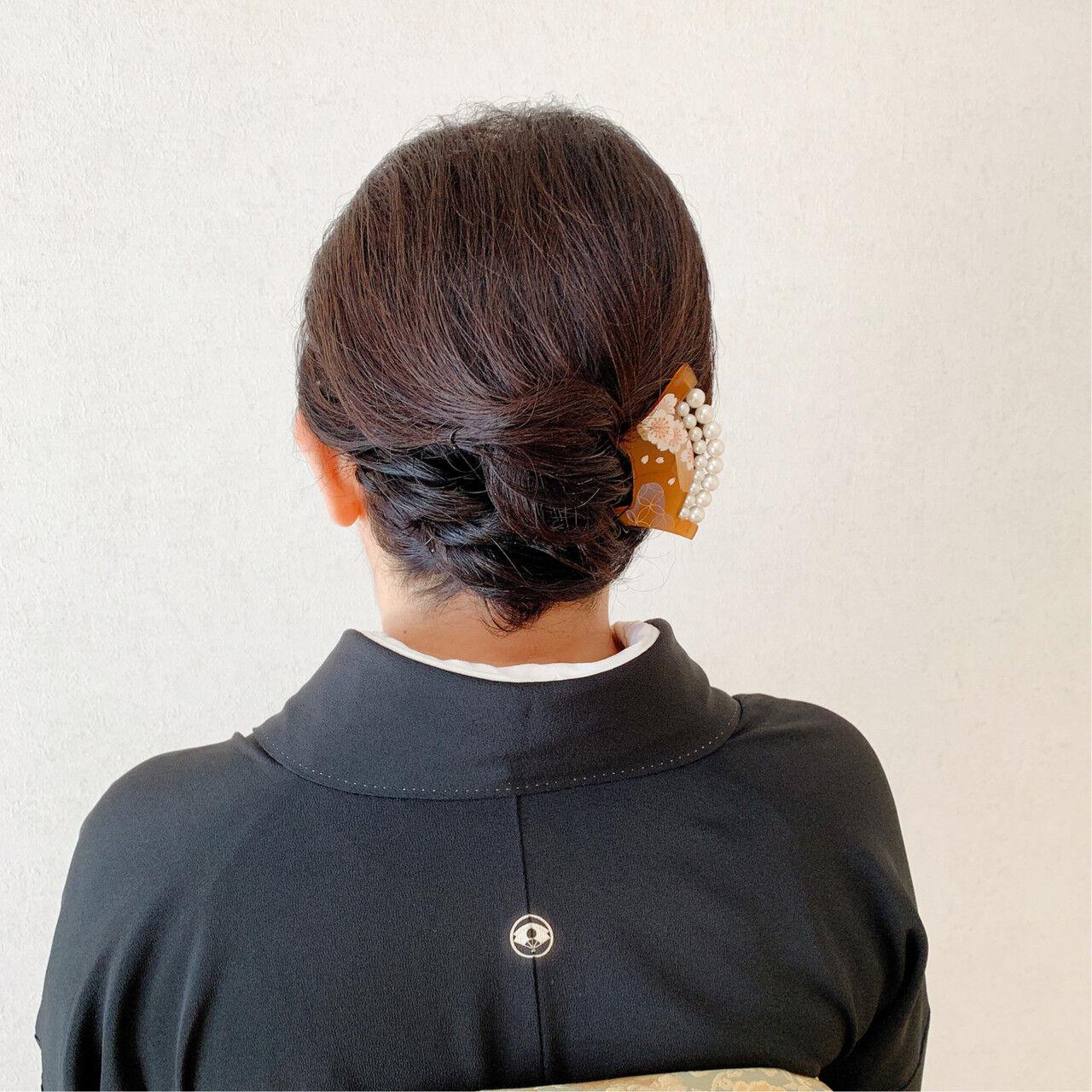 着物 訪問着 和装ヘア エレガントヘアスタイルや髪型の写真・画像