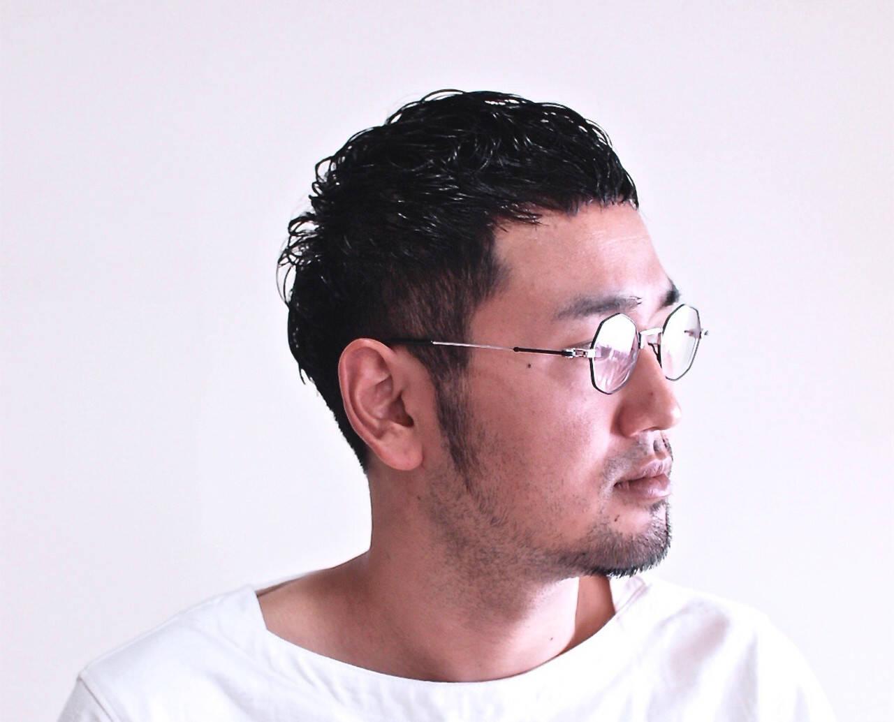 メンズ メンズカット メンズヘア ナチュラルヘアスタイルや髪型の写真・画像