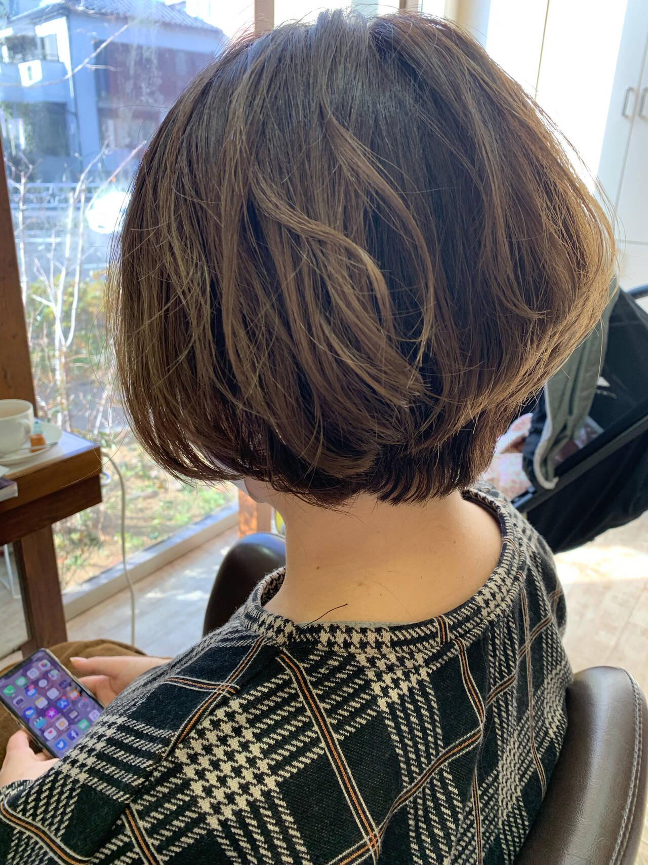 ママヘア イメチェン ナチュラルグラデーション ママヘアスタイルや髪型の写真・画像
