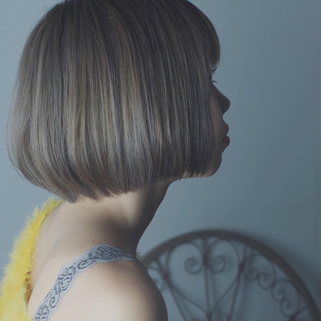 大人女子 ニュアンス ガーリー ボブヘアスタイルや髪型の写真・画像