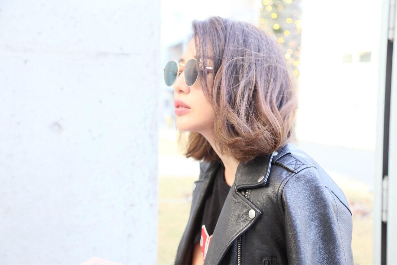 ニュアンス 外国人風カラー 色気 ハイライトヘアスタイルや髪型の写真・画像