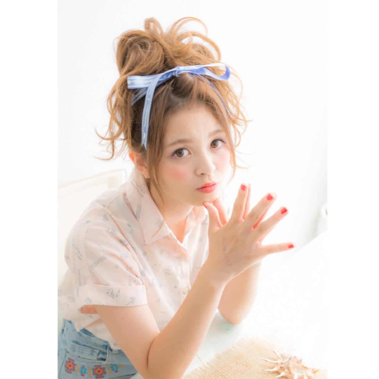 ミディアム アップスタイル ショート ヘアアレンジヘアスタイルや髪型の写真・画像