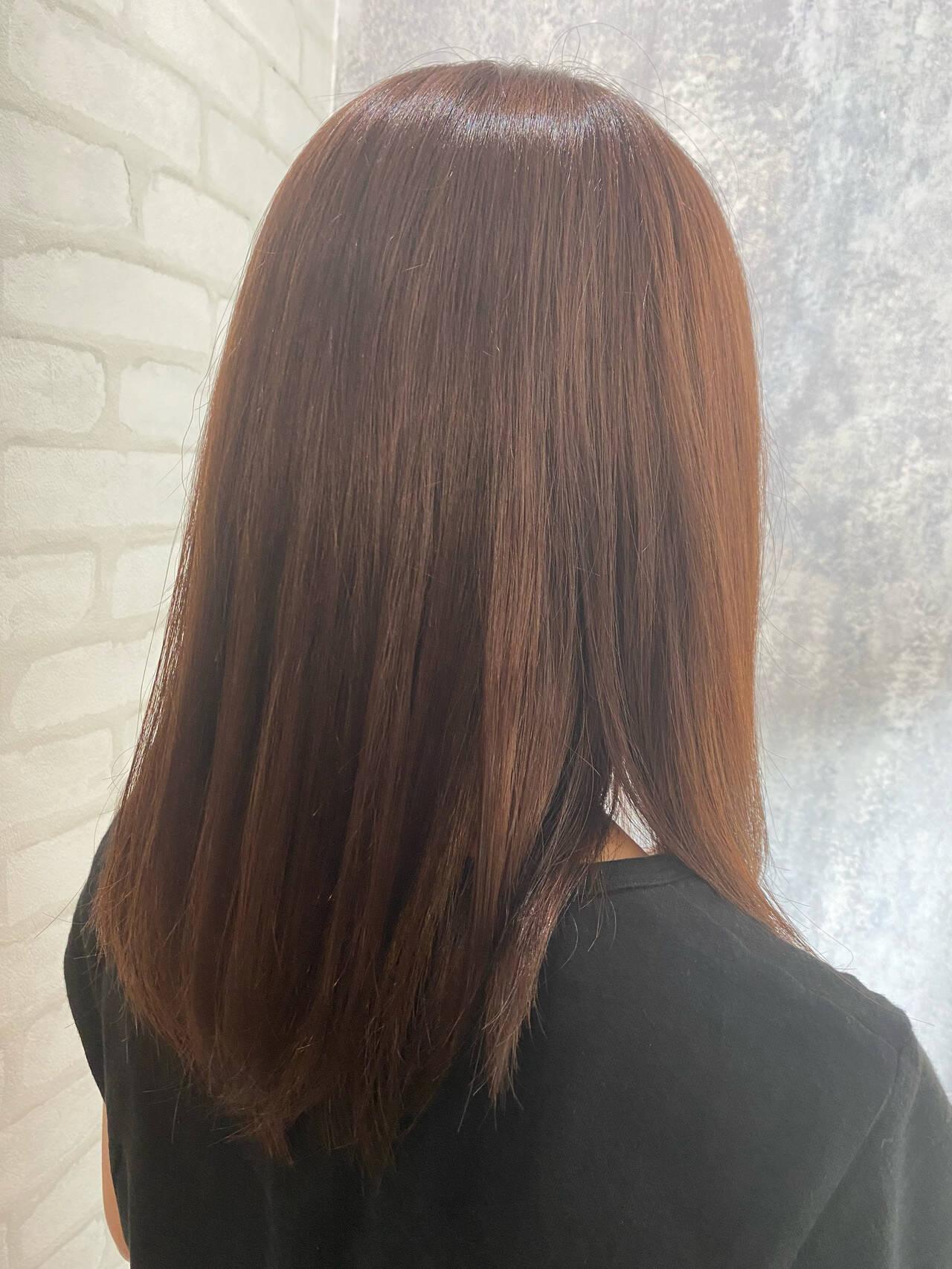 髪質改善カラー 髪質改善トリートメント ナチュラル 髪質改善ヘアスタイルや髪型の写真・画像