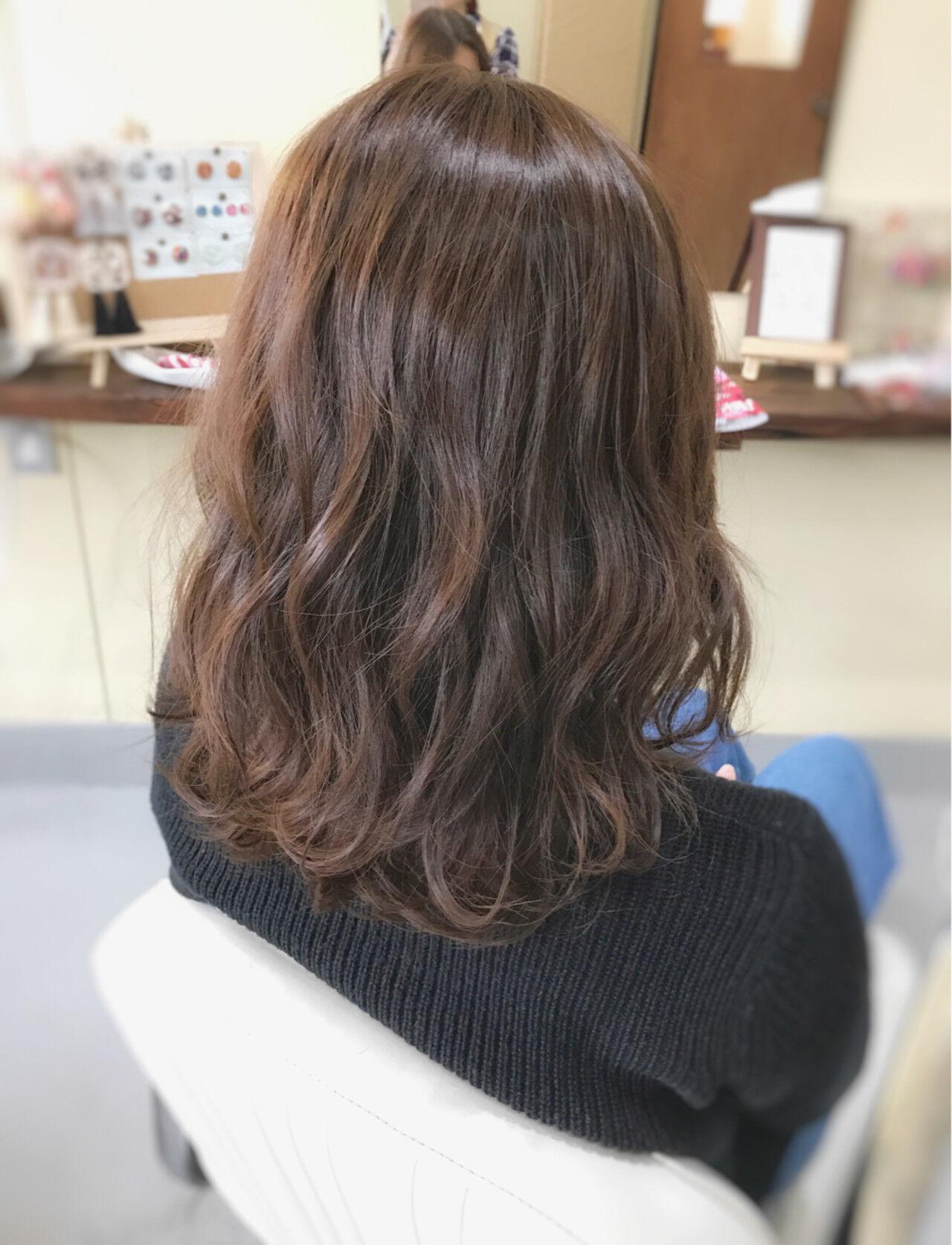 ミディアム 大人女子 フェミニン こなれ感ヘアスタイルや髪型の写真・画像
