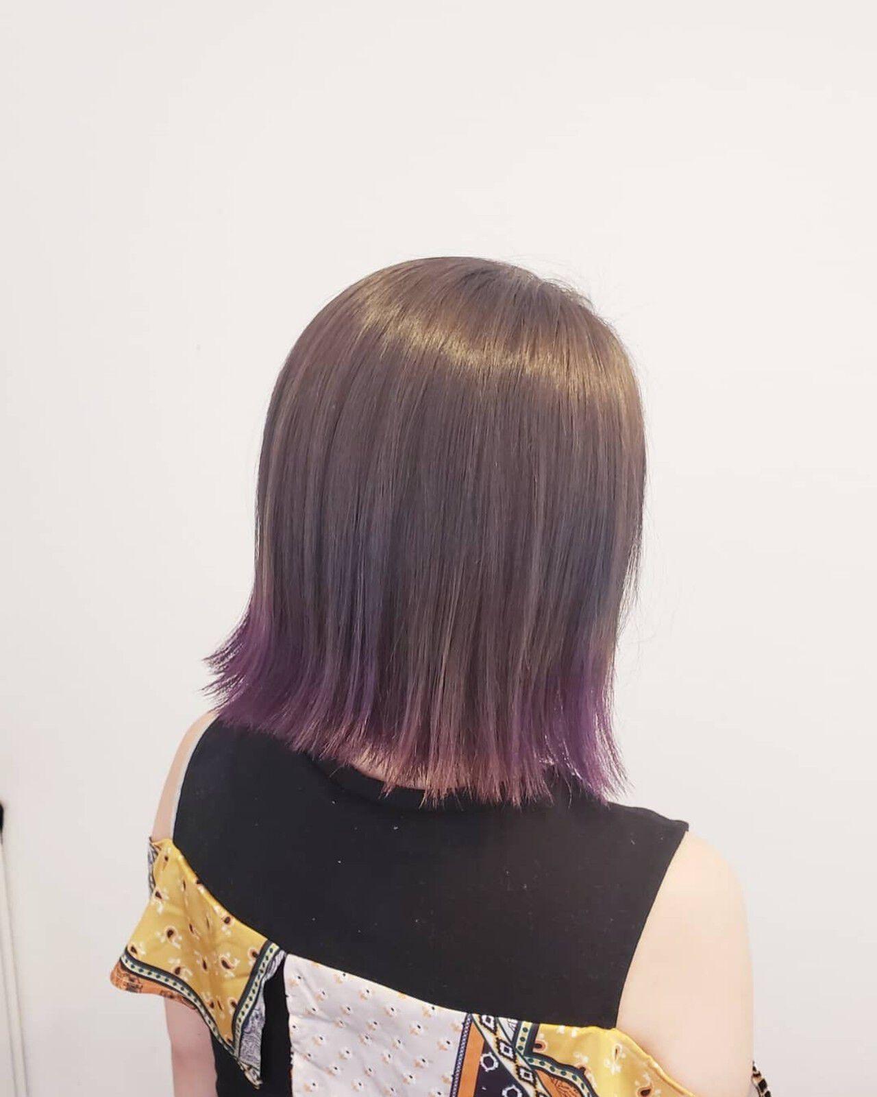 ナチュラル 髪質改善トリートメント 透明感 ブリーチヘアスタイルや髪型の写真・画像